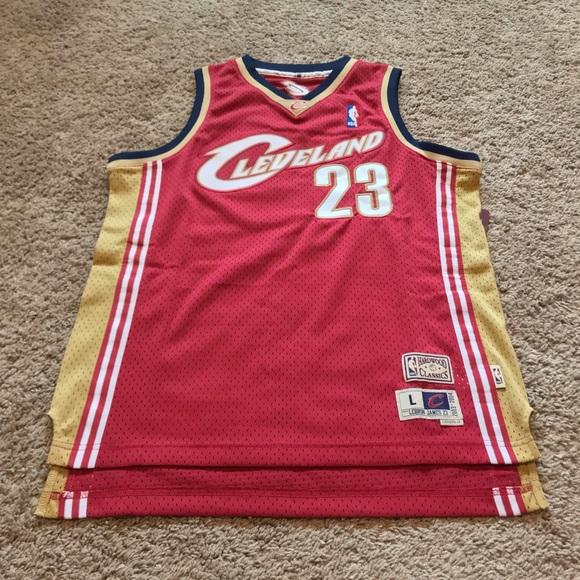 newest 8d318 6b8dd NEW Mitchell & Ness LeBron James Cavs NBA Jersey NWT
